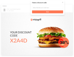 Discount coupon created thanks to marketing automation system