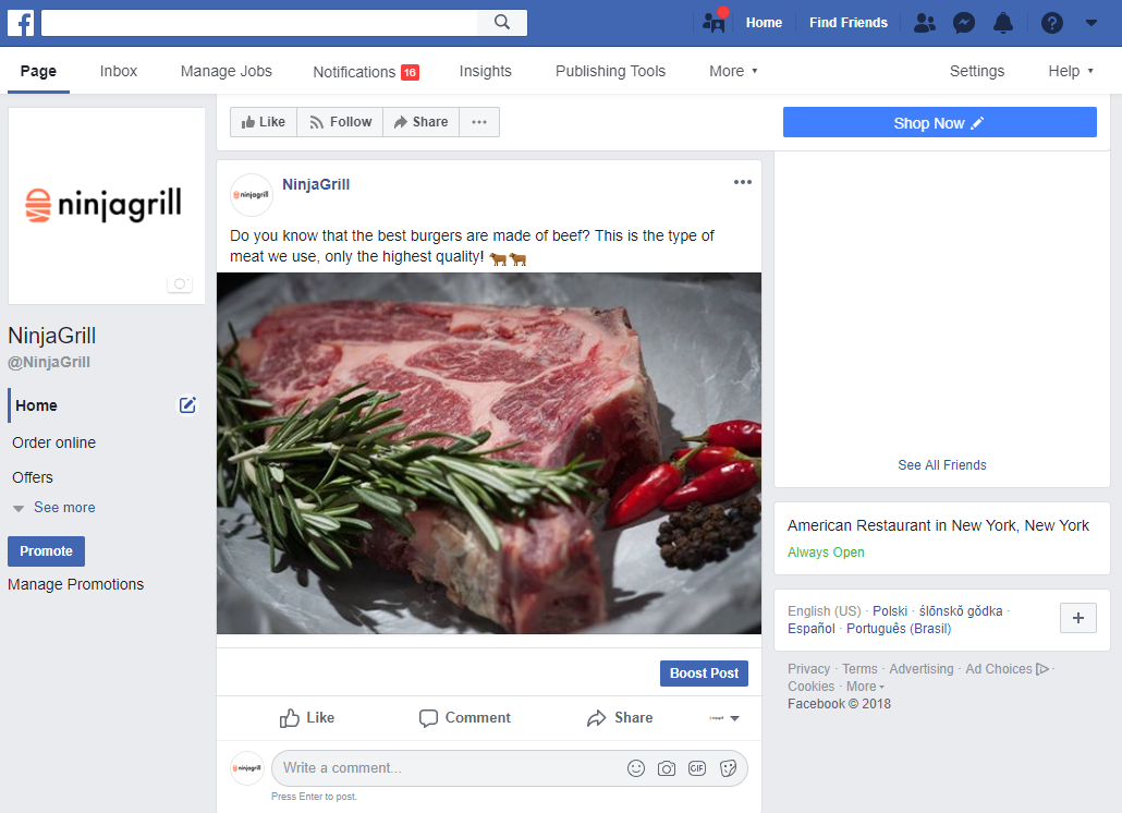 restaurant facebook post ideas