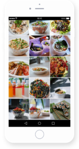 Making a beautiful Instagram grid - excellent restaurant marketing trend.
