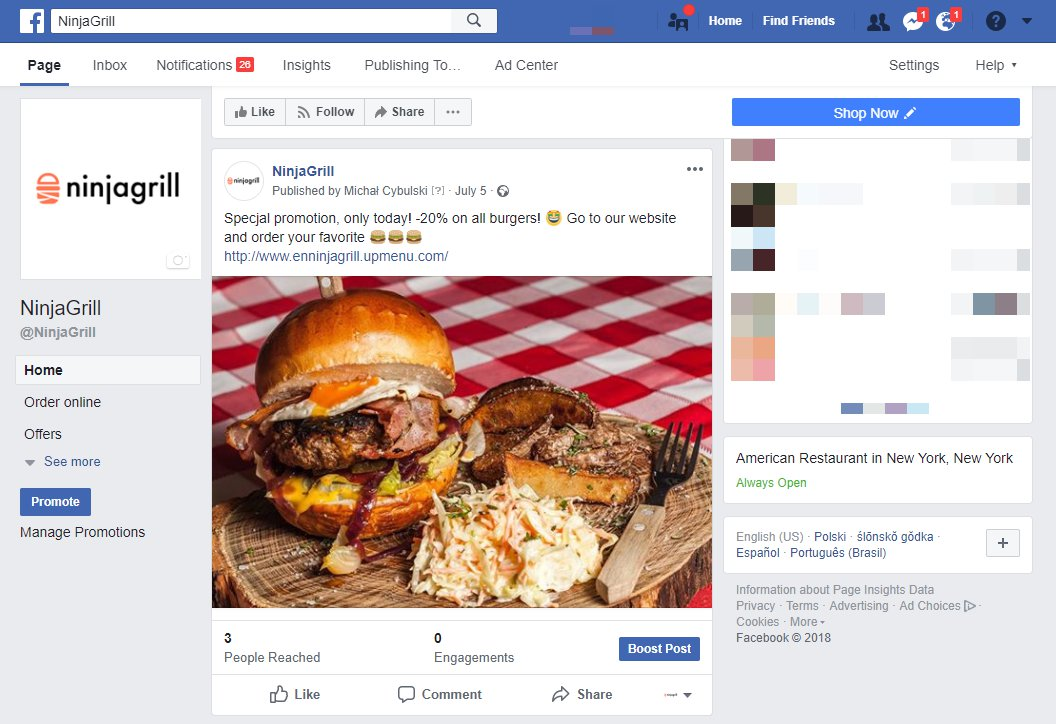 Restaurant online marketing with Facebook page ideas .