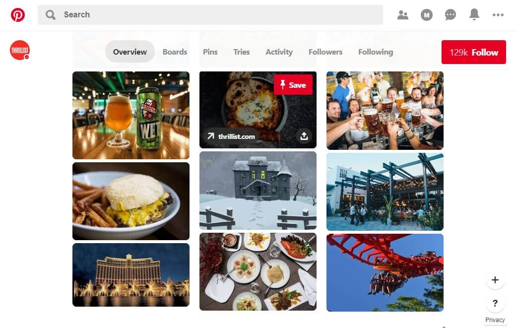 Pinterest - opportunity to get your restaurant pinned
