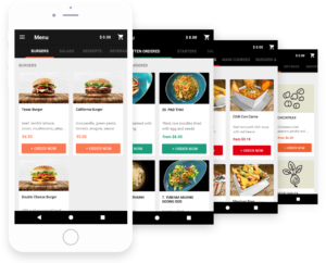 iPhone restaurant online ordering system