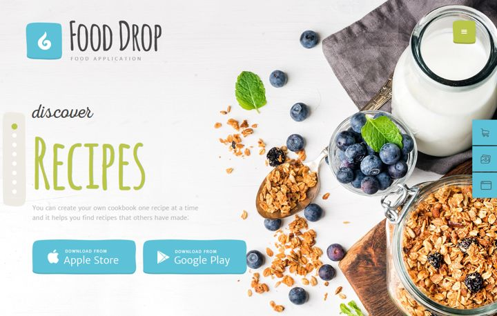 food drop theme