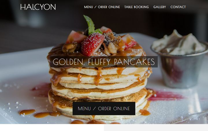 Halcyon the fanciest restaurant website template