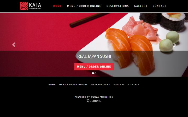 Kafa - perfect WordPress website template for sushi and not only