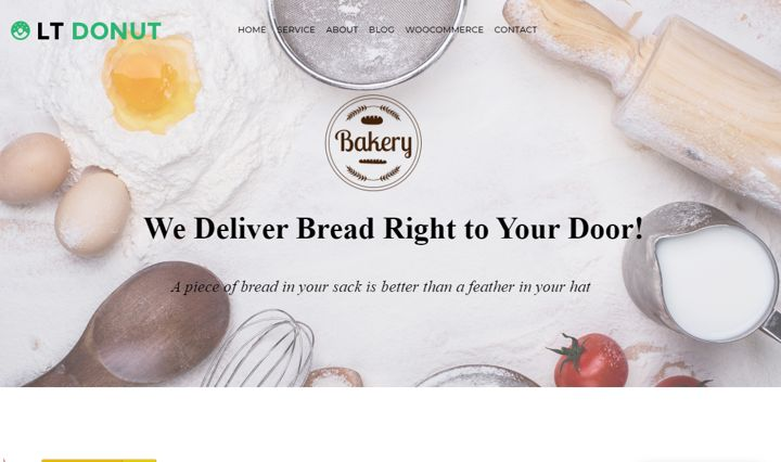 LT Donut restaurant website template