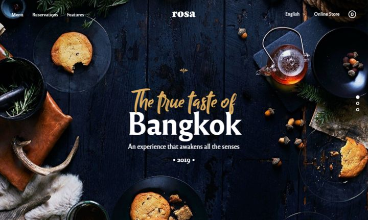 Rosa2 the best-selling restaurant website template