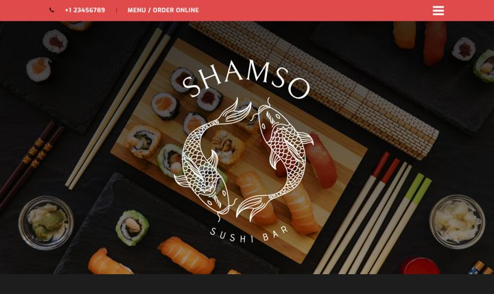 Shamso restaurant website template in oriental style.