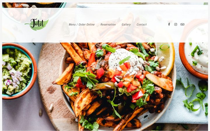 Totit fresh and responsive restaurant website template