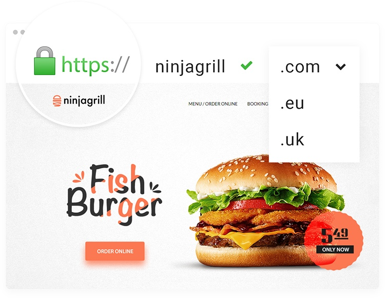 Online food ordering website.