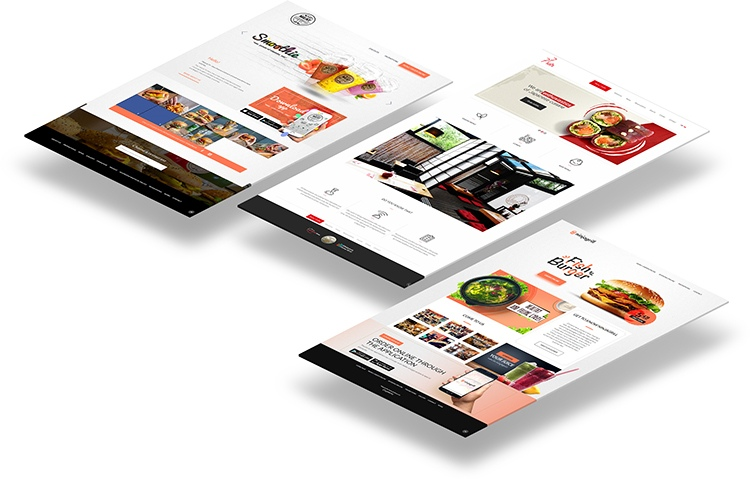 Online food ordering website themes