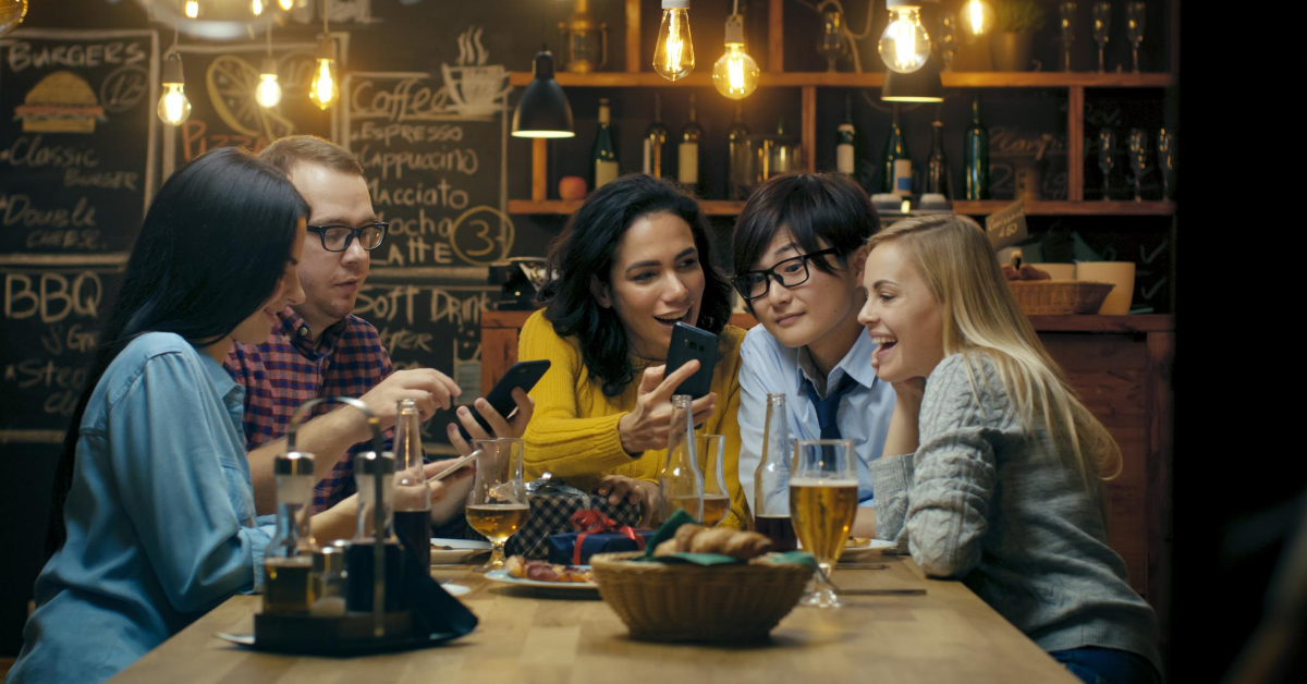 Customers engaged by proper digital marketing in restaurant