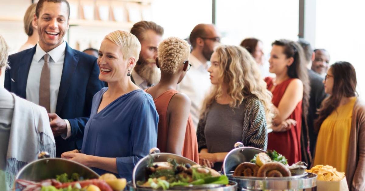 Customers gathering due to effective event marketing in restaurant
