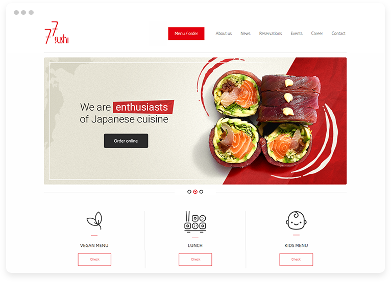 Restaurant website optimized for digital marketing and search engines
