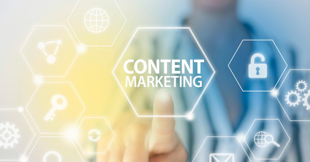 Breakdown of elements included in content marketing